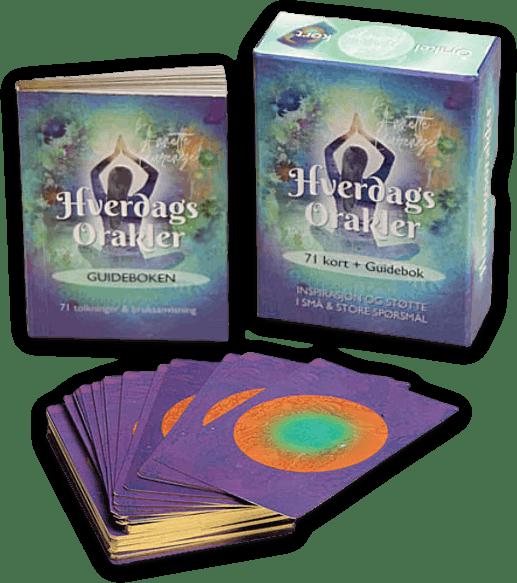 Norske Orakel kort med bok